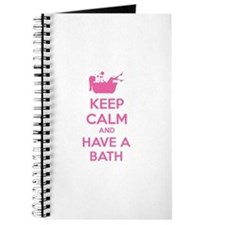 Keep calm and have a bath Journal
