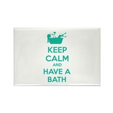 Keep calm and have a bath Rectangle Magnet