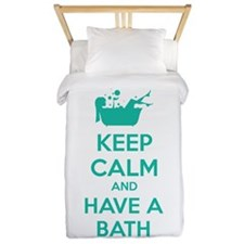 Keep calm and have a bath Twin Duvet