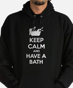 Keep calm and have a bath Hoodie (dark)