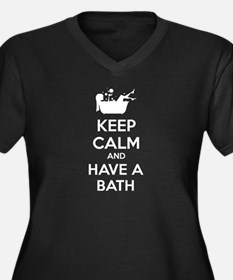 Keep calm and have a bath Women's Plus Size V-Neck