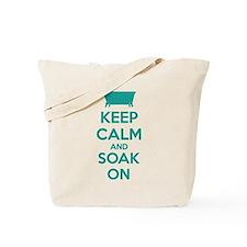 Keep calm and soak on Tote Bag