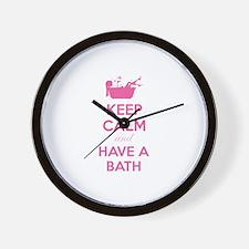 Keep calm and have a bath Wall Clock