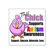 This Chick Supports Autism Awareness Sticker