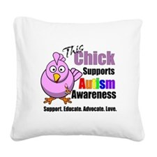 This Chick Supports Autism Awareness Square Canvas