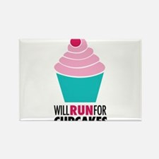 Will Run for Cupcakes Rectangle Magnet