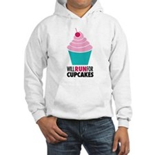 Will Run for Cupcakes Hoodie