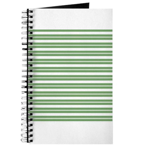 Green White Horizontal Stripes Journal by ...