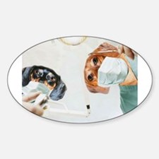 Dentists Doxies Sticker (Oval)
