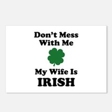 Don't Mess With Me. My Wife Is Irish. Postcards (P