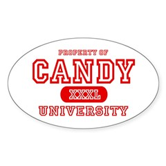 Candy University Oval Decal