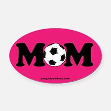 Oval Car Magnet- Soccer Mom PInk