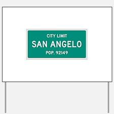San Angelo, Texas City Limits Yard Sign