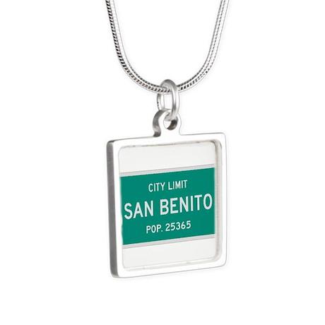 San Benito, Texas City Limits Silver Square Neckla