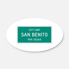San Benito, Texas City Limits Oval Car Magnet