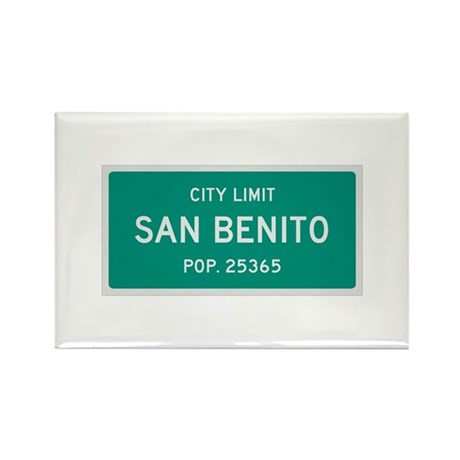 San Benito, Texas City Limits Rectangle Magnet (10
