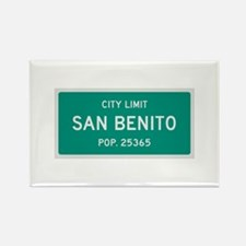 San Benito, Texas City Limits Rectangle Magnet