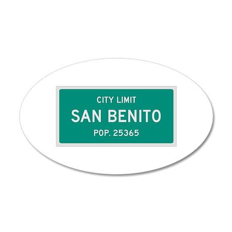 San Benito, Texas City Limits Wall Decal