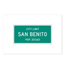 San Benito, Texas City Limits Postcards (Package o