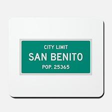San Benito, Texas City Limits Mousepad