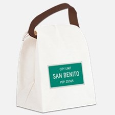 San Benito, Texas City Limits Canvas Lunch Bag