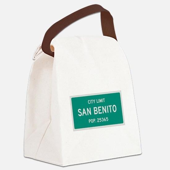 San Benito, Texas City Limits Canvas Lunch Bag
