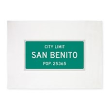 San Benito, Texas City Limits 5'x7'Area Rug