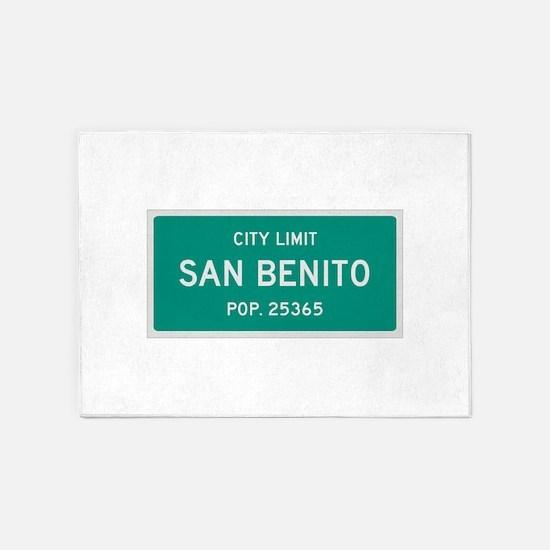 San Benito, Texas City Limits 5'x7'Area Rug