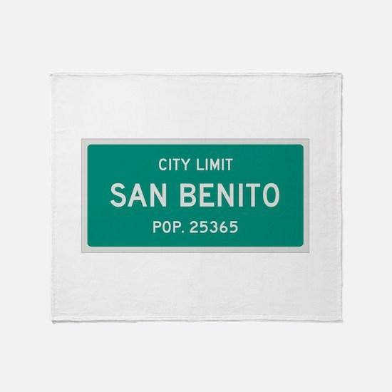 San Benito, Texas City Limits Throw Blanket