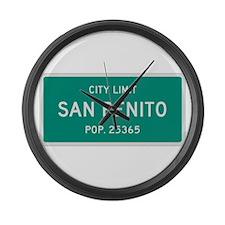 San Benito, Texas City Limits Large Wall Clock