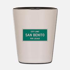 San Benito, Texas City Limits Shot Glass
