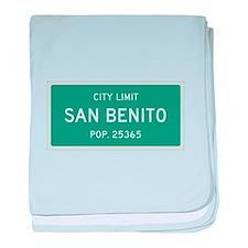 San Benito, Texas City Limits baby blanket