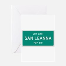San Leanna, Texas City Limits Greeting Card