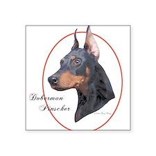 Doberman Pinscher Cameo Sticker (Rect.) Sticker