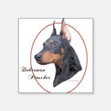Doberman Pinscher Cameo Sticker (Rect.) Sticker