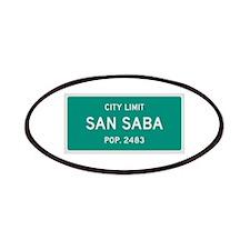 San Saba, Texas City Limits Patches