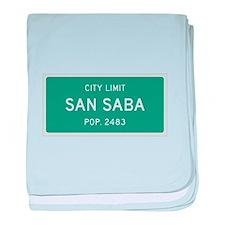 San Saba, Texas City Limits baby blanket