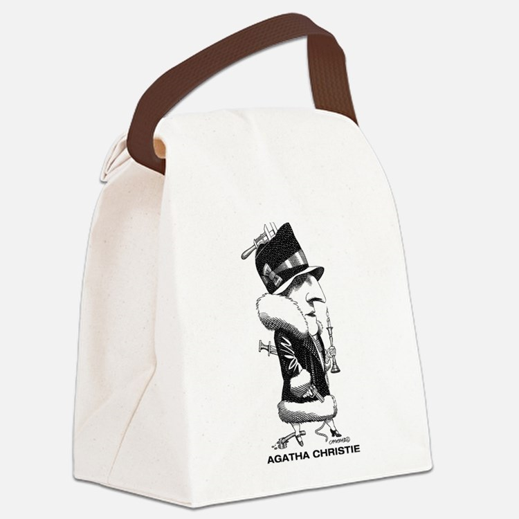 Cute Agatha christie Canvas Lunch Bag
