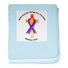 Cute Awareness and support baby blanket