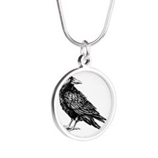 Raven Silver Round Necklace