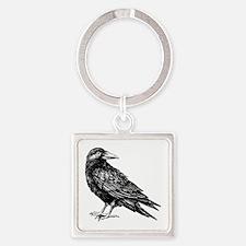 Raven Square Keychain
