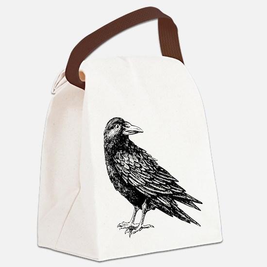 Raven Canvas Lunch Bag