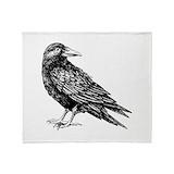 Raven Fleece Blankets