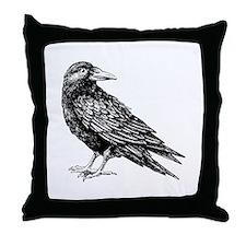 Raven Throw Pillow