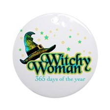 Witchy Woman 365 Ornament (Round)