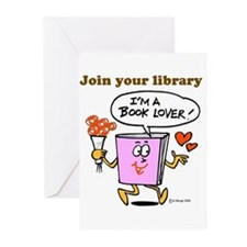 Cute Books Greeting Cards (Pk of 10)