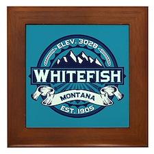Whitefish Logo Ice Framed Tile