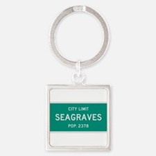 Seagraves, Texas City Limits Square Keychain