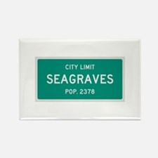 Seagraves, Texas City Limits Rectangle Magnet