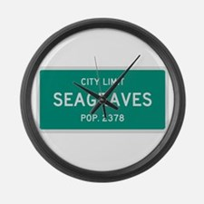 Seagraves, Texas City Limits Large Wall Clock